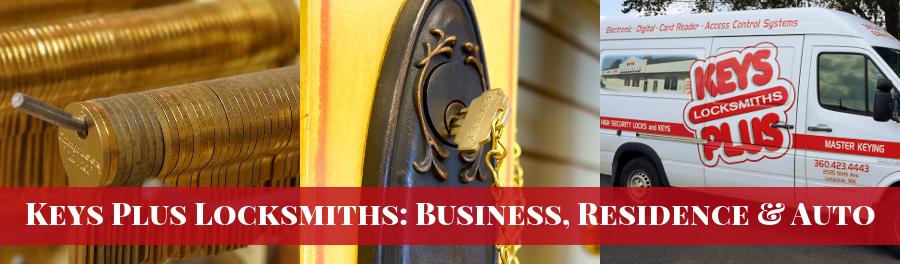 Keys Plus Locksmiths, Cowlitz County WA