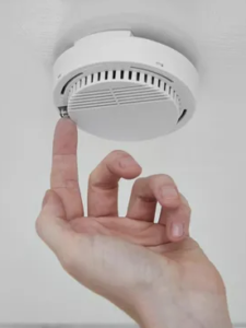 newly installed carbon monoxide detector
