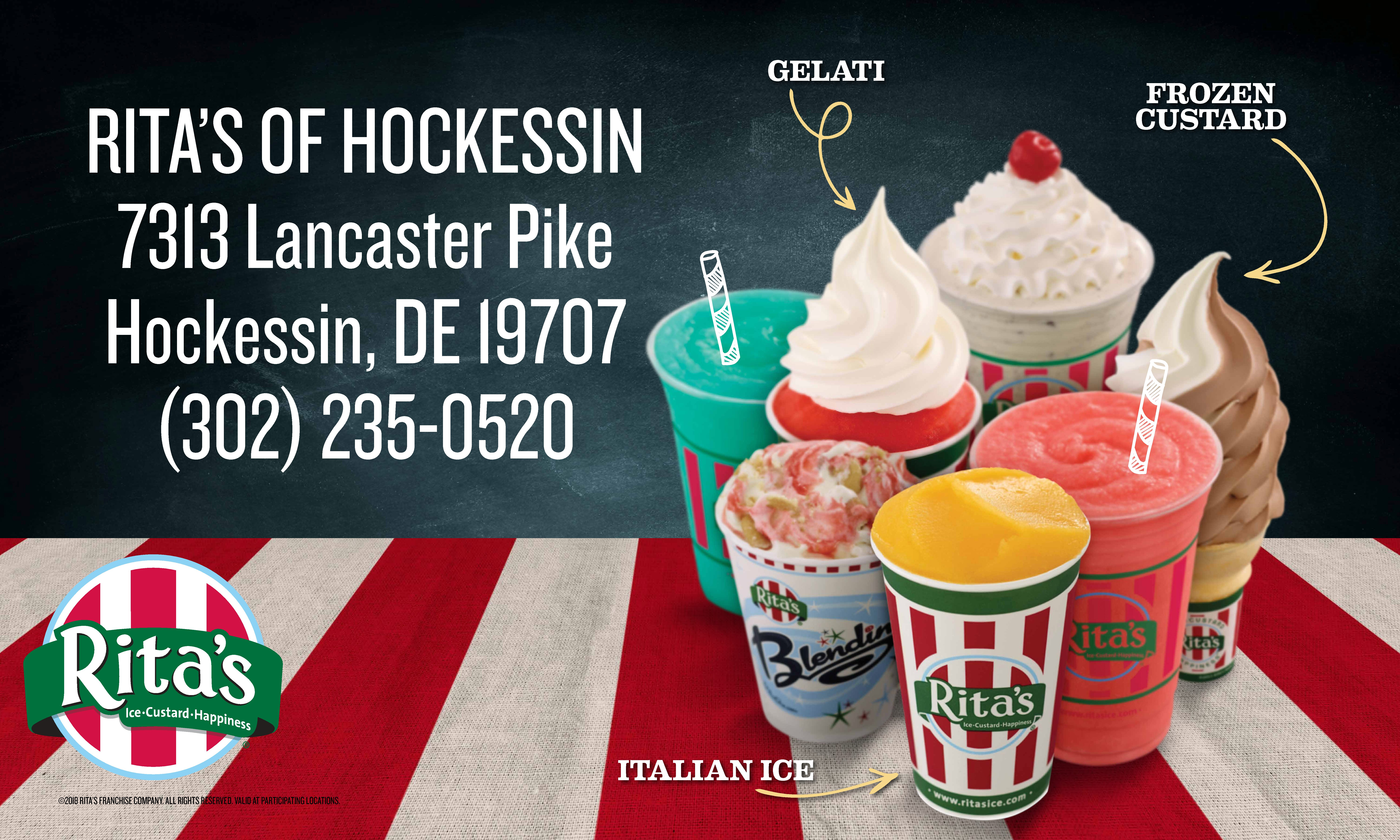 Delaware FC Hockessin is pleased to announce continued sponsorship relationship with Rita's of Hockessin! Thank you for your support of our program!!