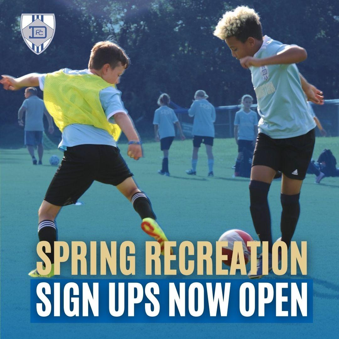 Register for the Spring Recreational Season