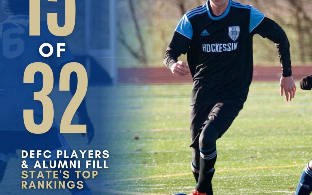 Nearly Half of the Top Ranked Soccer Players in the State are Delaware FC Players and Alumni