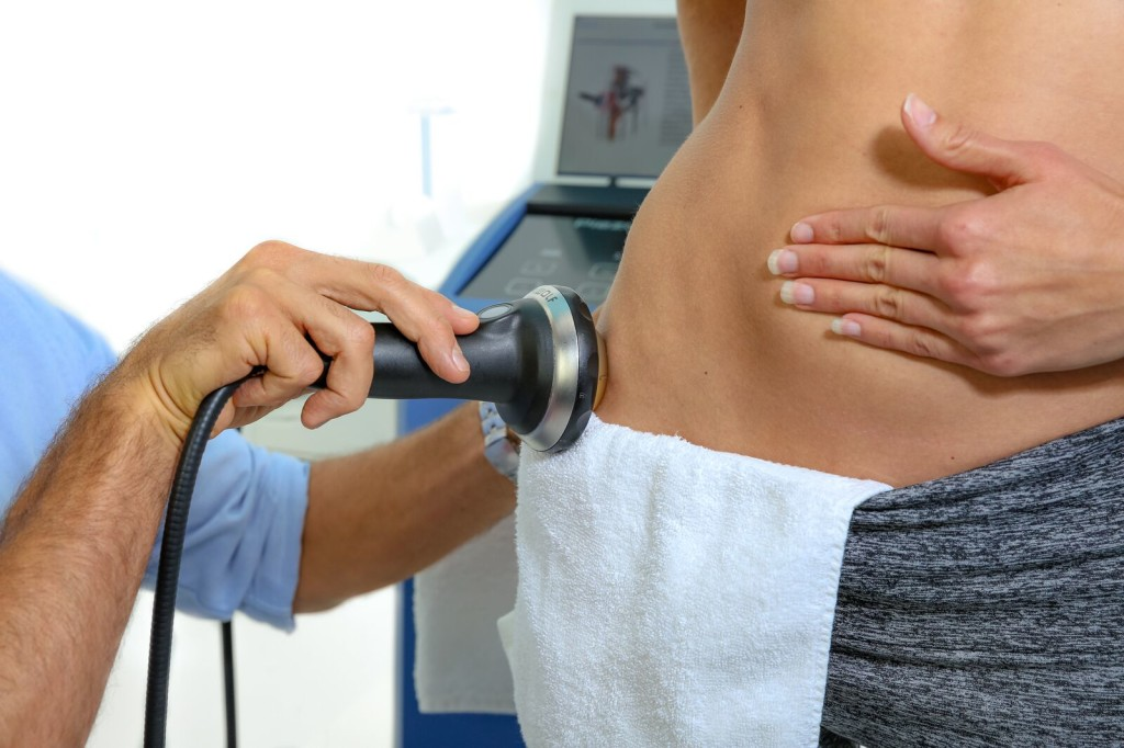 Piezoelectric extracorporeal shockwave therapy for hip pain