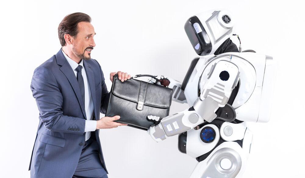 Robot replacing Worker