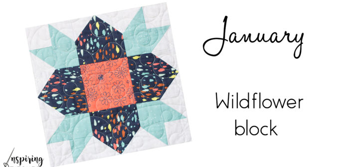 """12"""" finished Wildflower Block"""