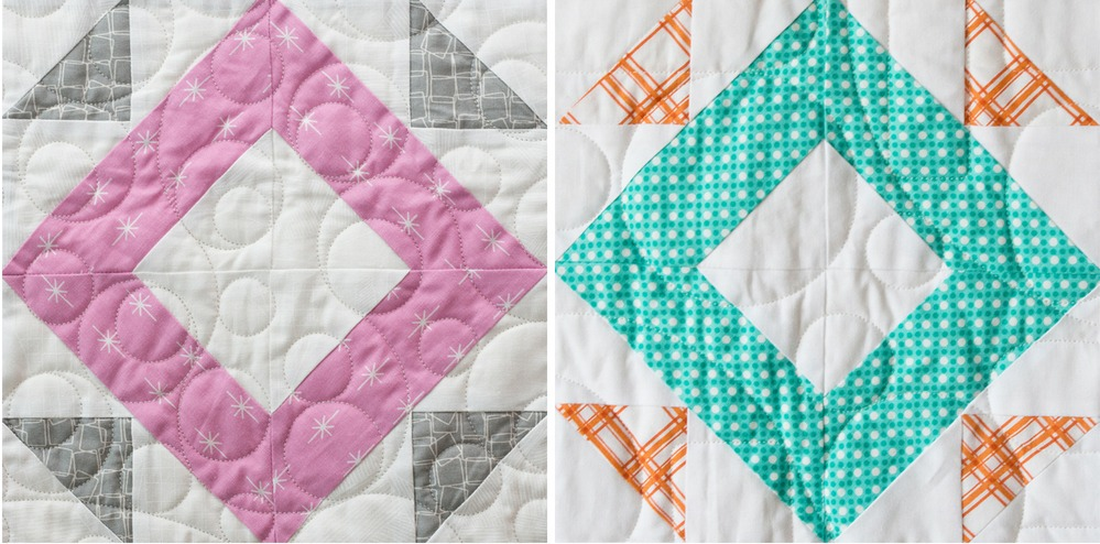 Practice points wth the Spotlight Block from the Heartland Heritage pattern. This scrappy quilt from the gals at Inspiring Stitching is the perfect design for building your quilting skills.