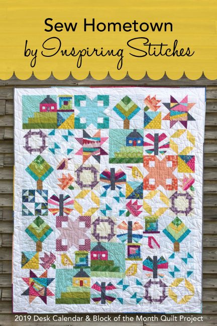 Sew Hometown is our 2019 Block of the Month Quilt Pattern