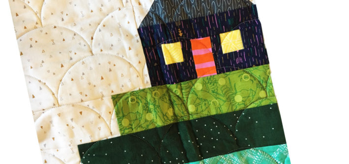 January Cottage Block ---Sew-Hometown
