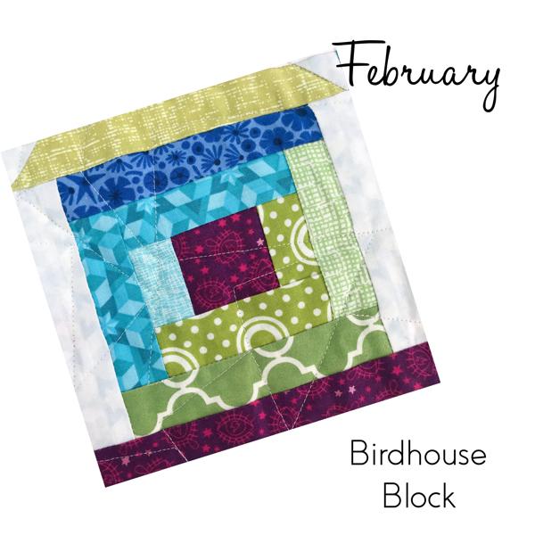 Birdhouse Block from Sew Hometown