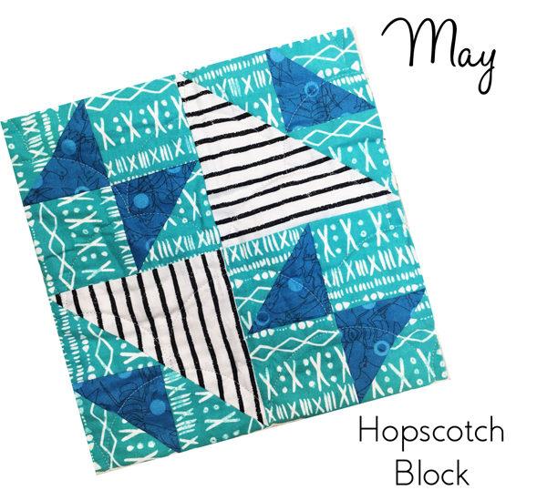 May Hopscotch Block ---Sew-Hometown