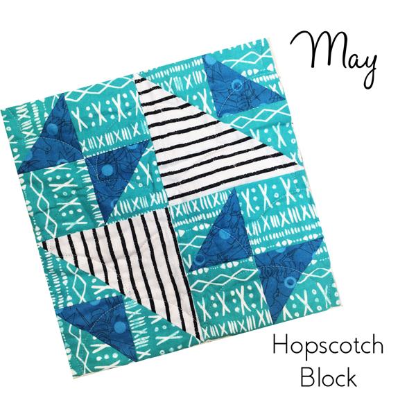 March Hopscotch Block ---Sew-Hometown