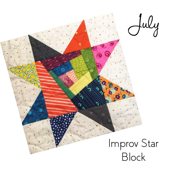 Improv Star block from Sew Hometown is so fun to stitch up!