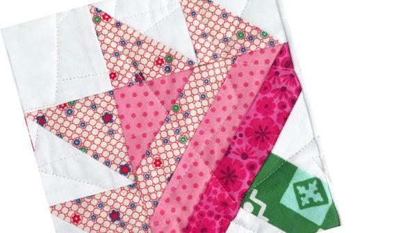 Geranium Quilt Block | Sew Hometown by Inspiring Stitches