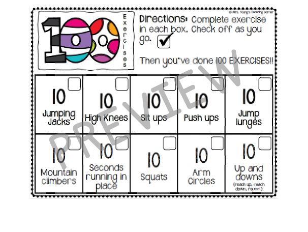 100th day of school - math 100 exercises