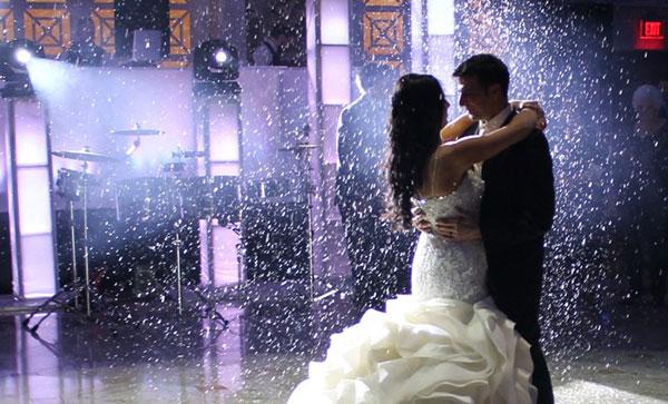 wedding enhancement snowfall