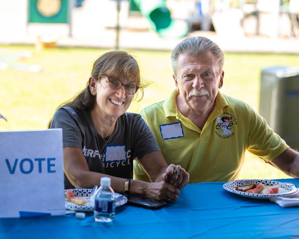Volunteers encourage people to register and vote in Bucks County, PA