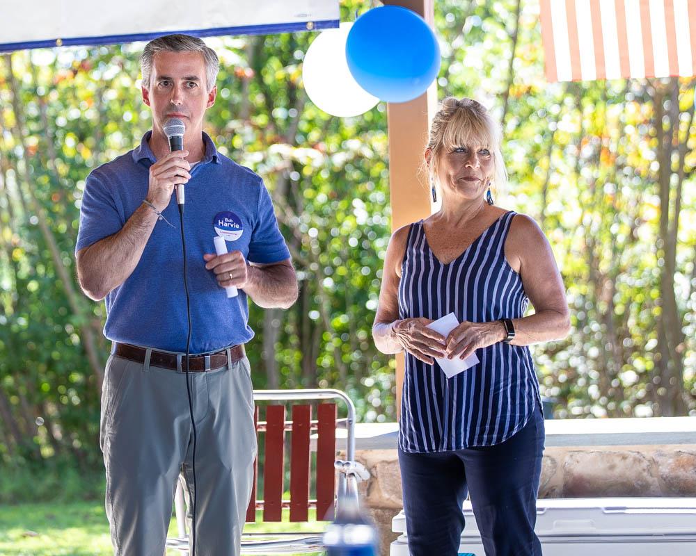 Bucks County Commissioners Diane Marseglia and Bob Harvie encourage residents to volunteer
