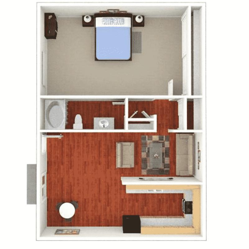 1 Bed 1 Bath 1,140 Sq. Ft. floor plan