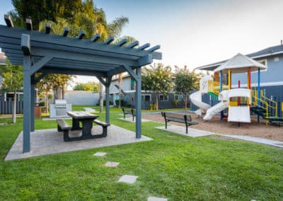 Playground for kids with BBQ grills and Picnic Area