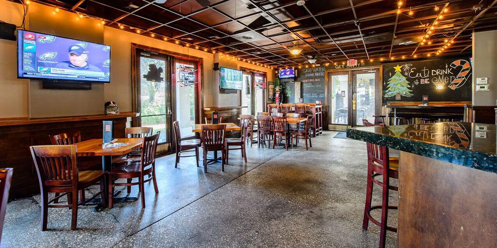 Teak Neighborhood Grill Interior Near Bar