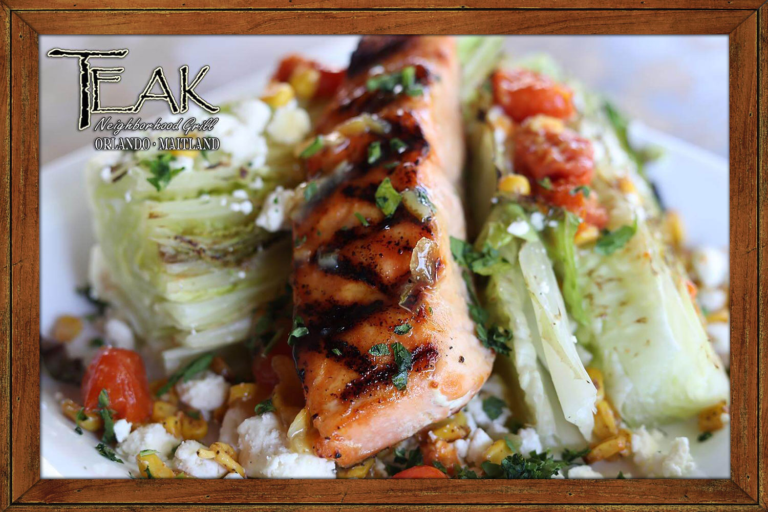 Grilled Romaine and Salmon Salad