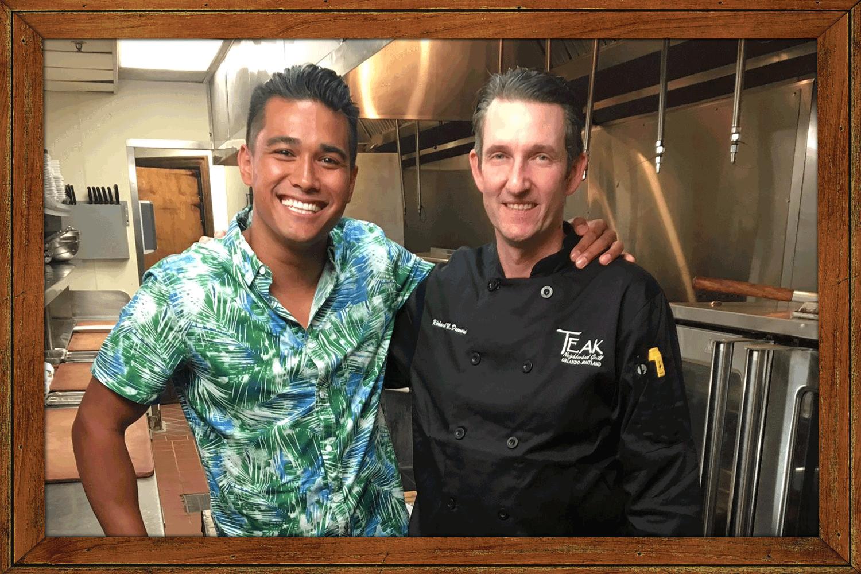 Chef Jordan Andino and Chef Ricky Demers
