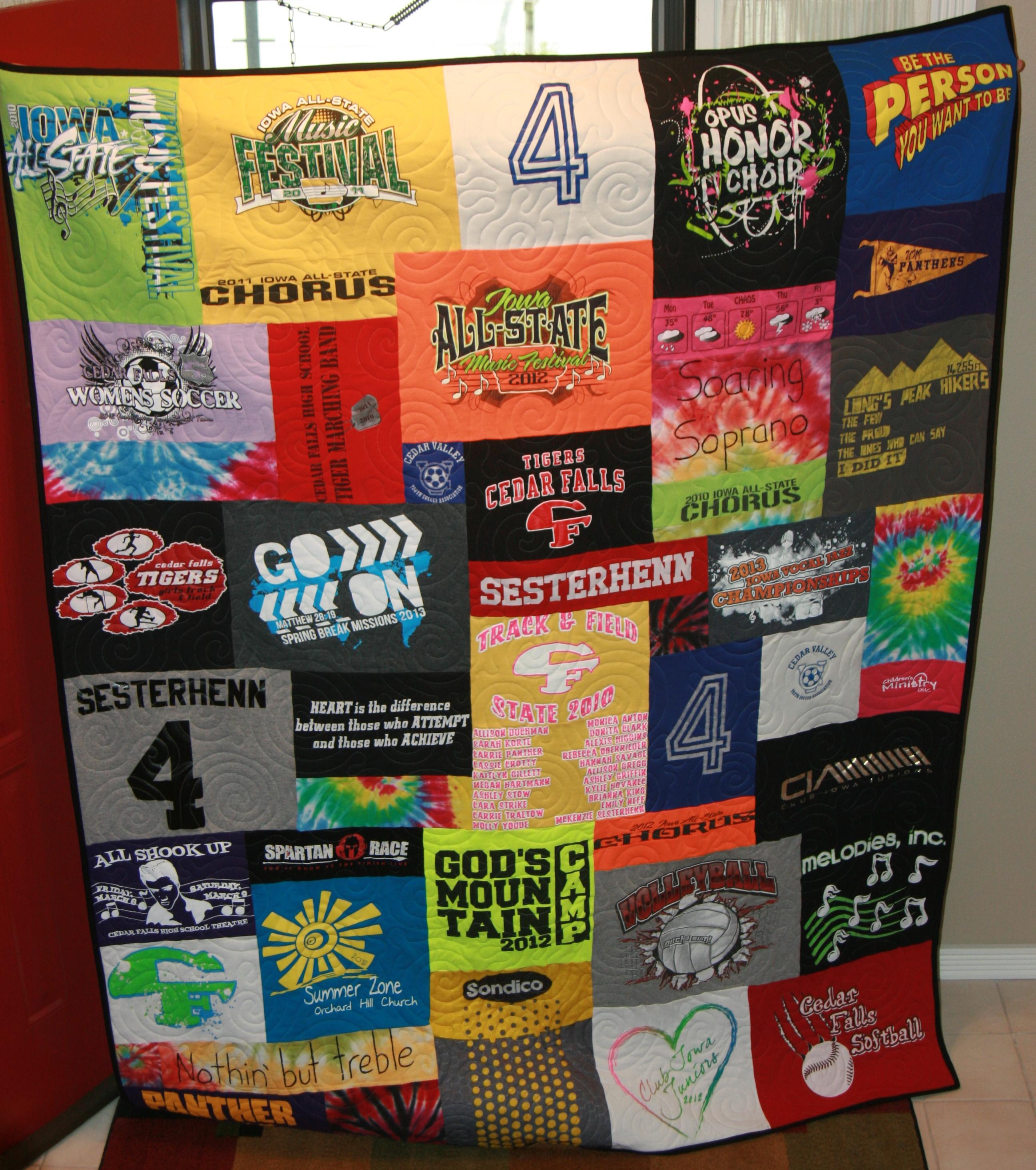 tie dye t-shirt quilt