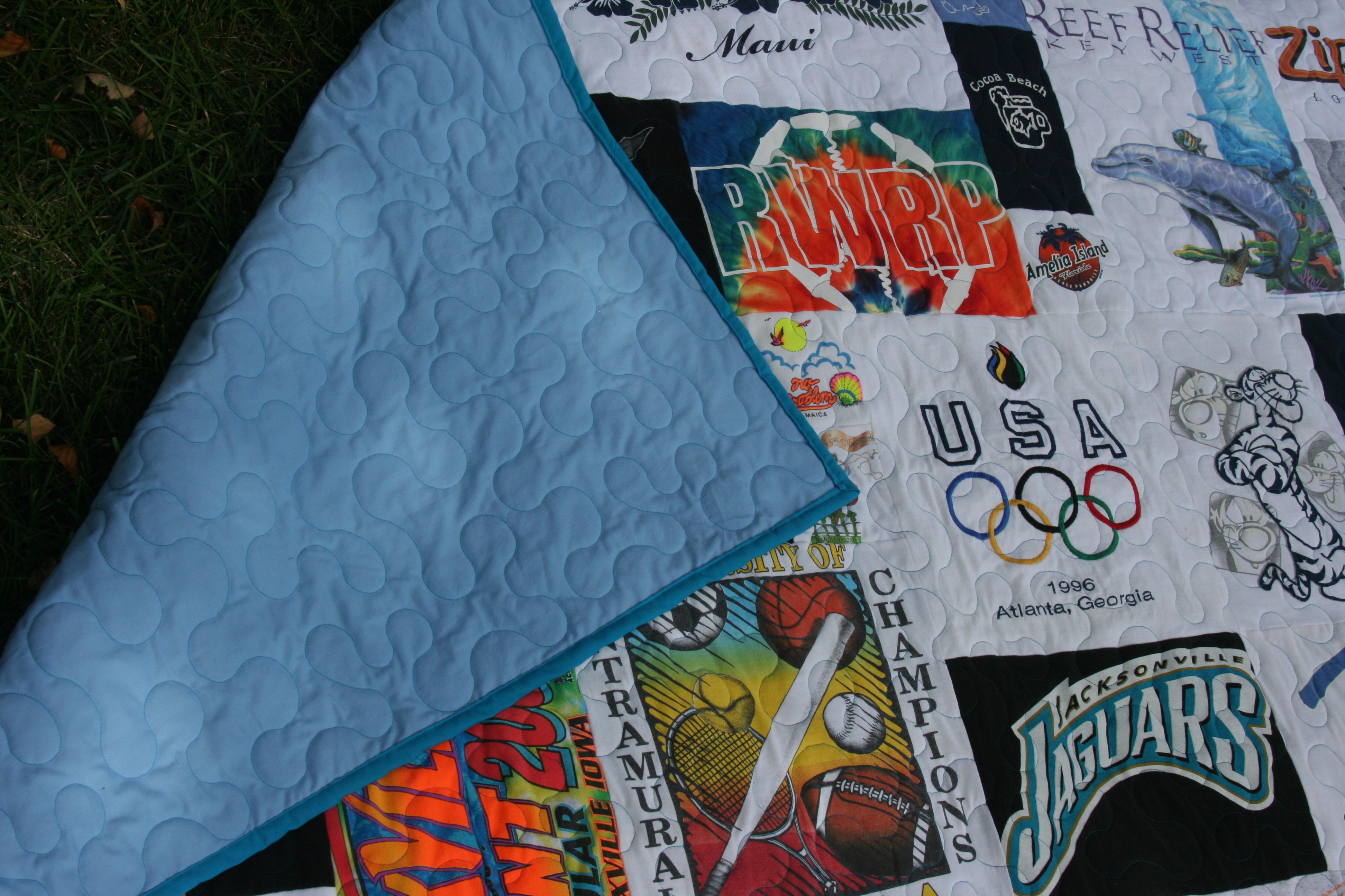 Olympic t shirt quilt, sports t shirt quilt