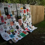 T-shirt quilts for two world travelers.