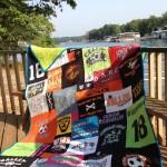 t-shirt quilt for high school graduation gift