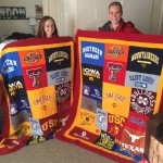 Example of t-shirt quilts made by Campus T-shirt Quilts