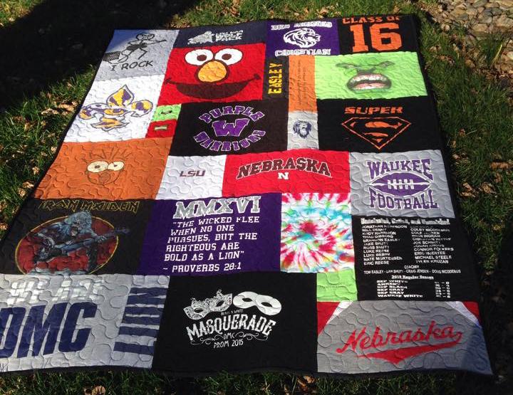 high school t-shirt quilt