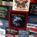 Harley t-shirt quilt, Harley Davidson t-shirt quilt, travel t-shirt quilt