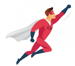 Dynamics NAV upgrade red superhero