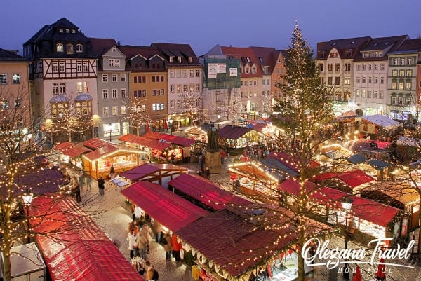 vacation destinations based on months of the year - German Christmas Market