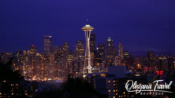 vacation destinations based on months of the year - Space Needle, Seattle