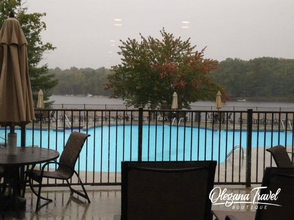 Woodloch - Outdoor Pool Overlooking The Lake (has a slide also, not pictured)