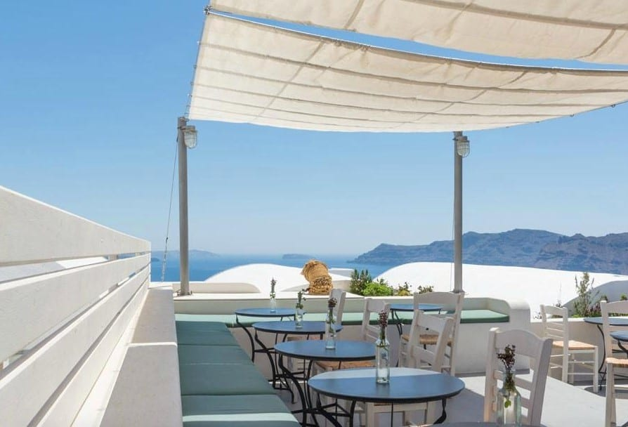The best restaurants in Greece - Stunning views overlooking the island of Santorini