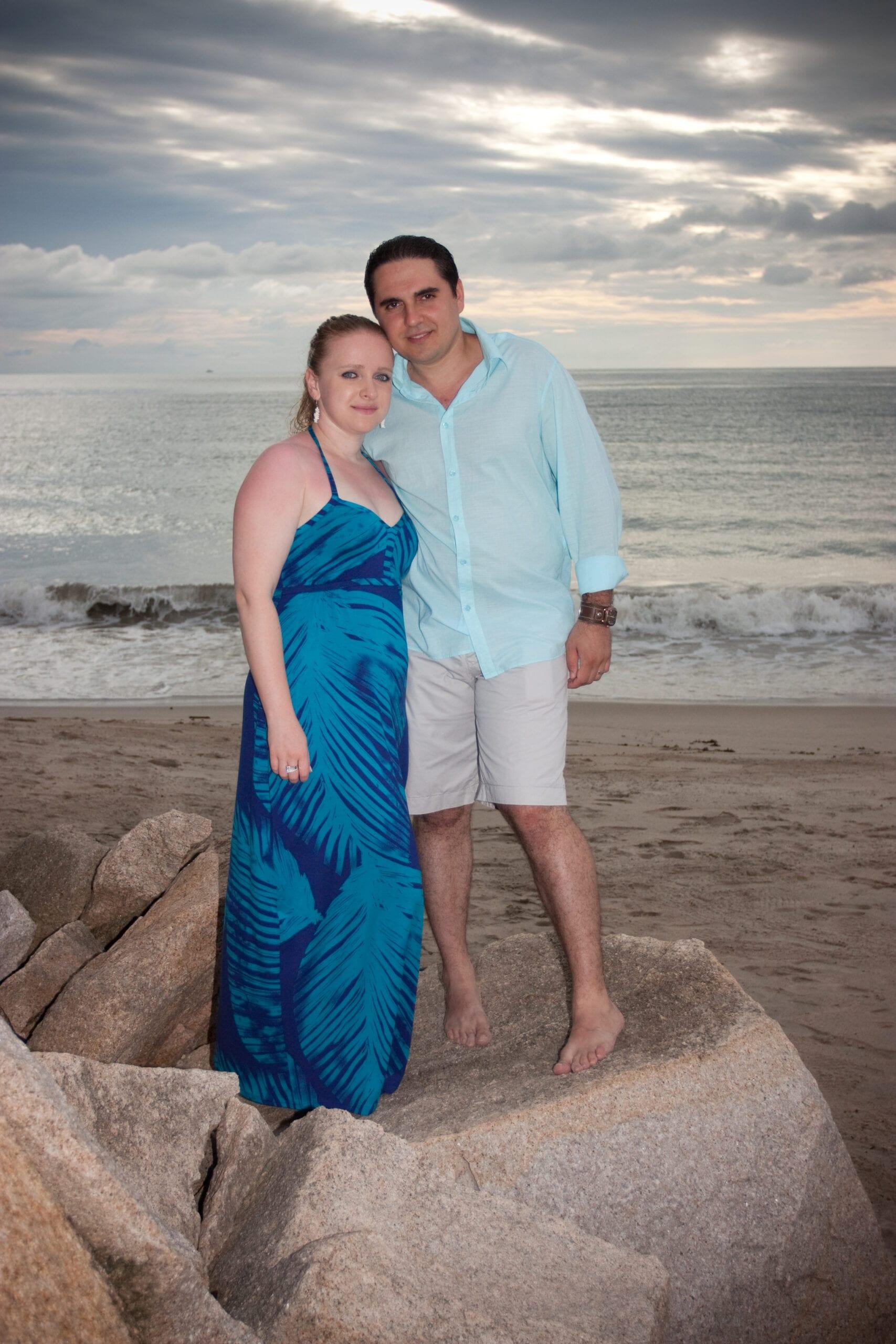 Couple on the beach in Jamaica