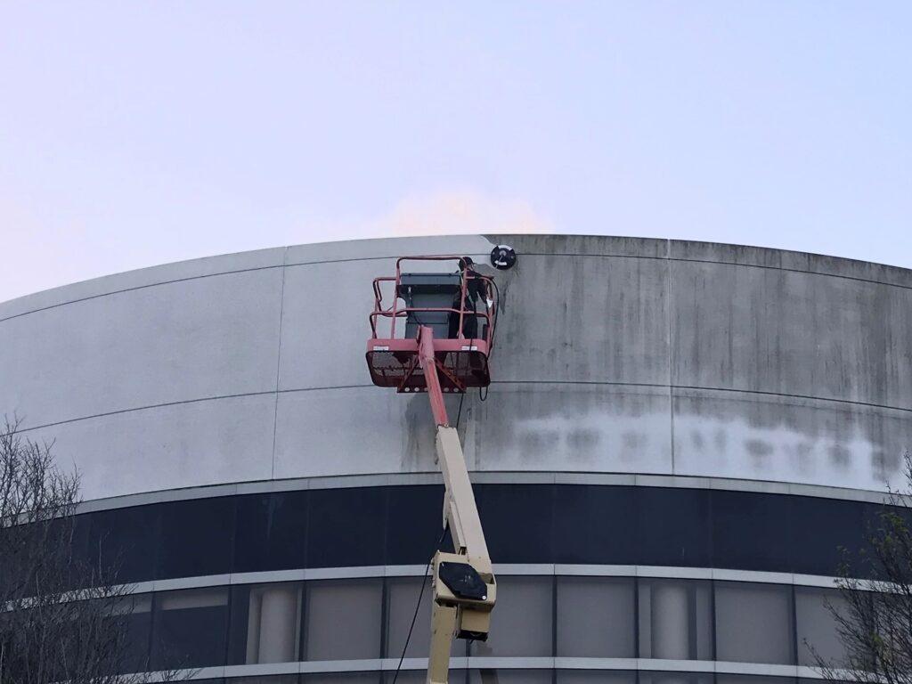 Pressure wash buildings