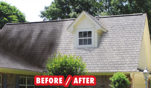 Soft Washing a Roof uses Eco-Friendly Chemicals and No Pressure