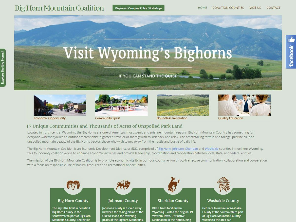 Bighorn Mountain Coalition website created by Confluence Collaborative