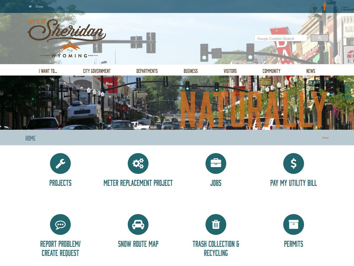 City of Sheridan website created by Confluence Collaborative