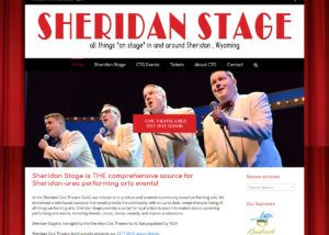 Sheridan Stage website created by Confluence Collaborative