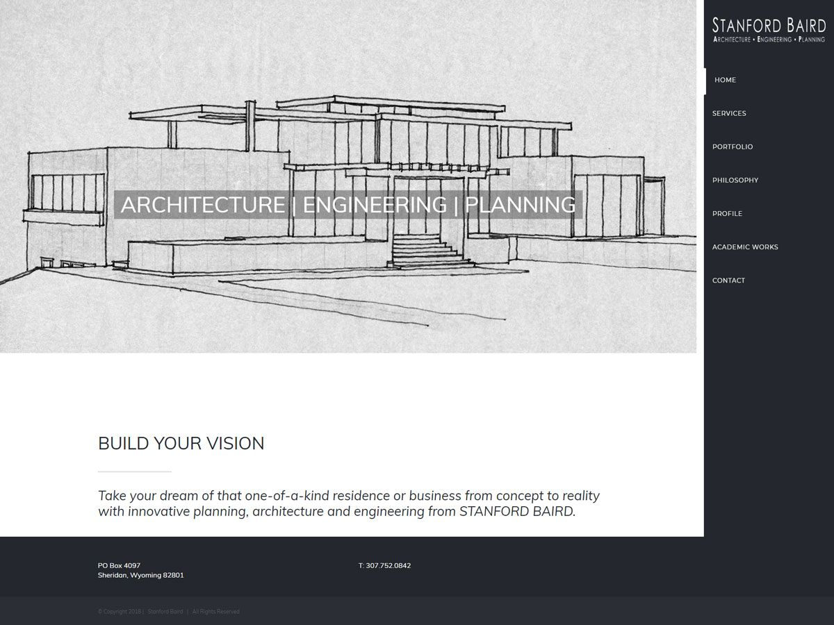 Stanford Baird website created by Confluence Collaborative