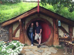 Todd and Oana in Hobbiton