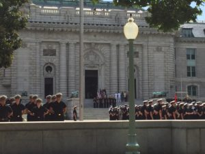 Noon meal formation USNA