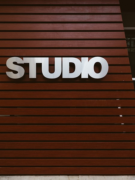 Studio interior signs in Pflugerville, TX