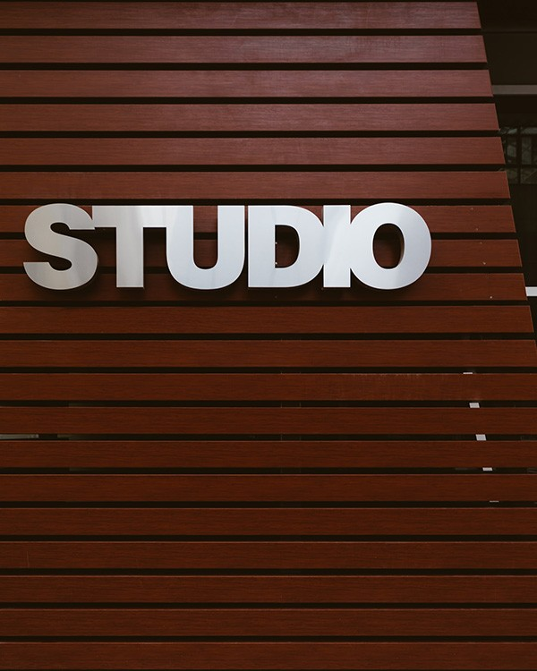 Studio Lobby Signs by Stryker Designs in Pflugerville, TX