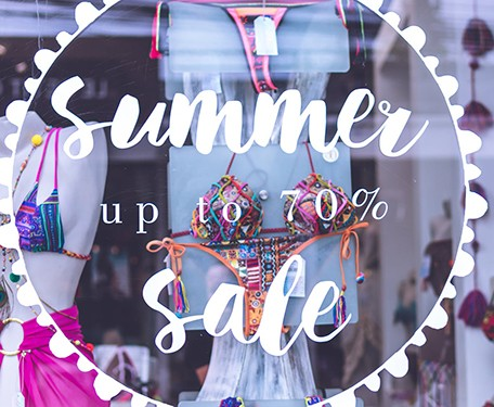 Summer sale promotion with attractive business window graphics in Pflugerville, TX