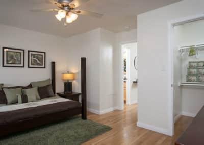 Bedroom with storage & closet space